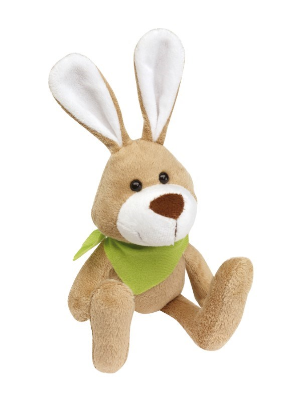 Plush rabbit Minna with green scarf