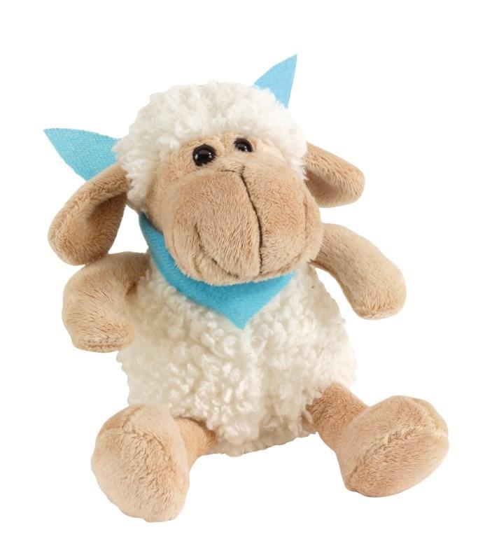 Plush sheep Rosi w turquois scarf