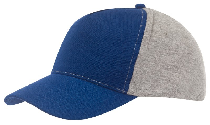 Baseball-Cap, 5 Panels with Jersey whit