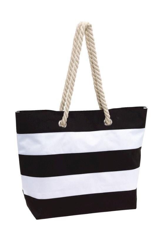 Beach bag Sylt 300D, blackwhite