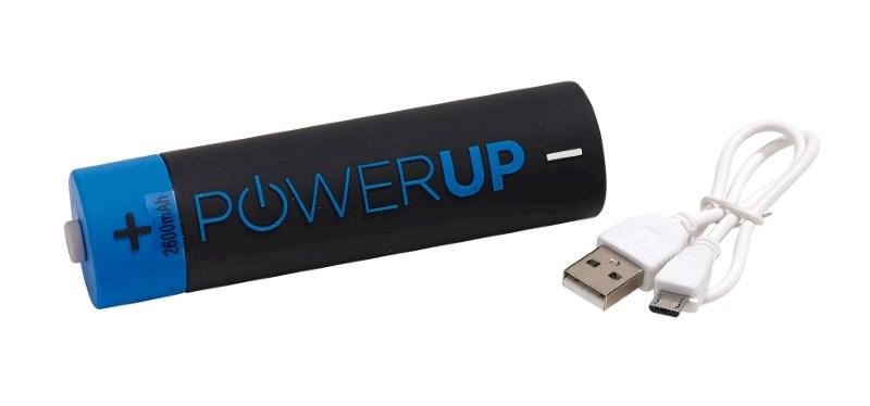 Powerbank POWER UP, greyblack