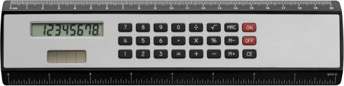 Plastic liniaal (20 cm) met ingeb solar calculator