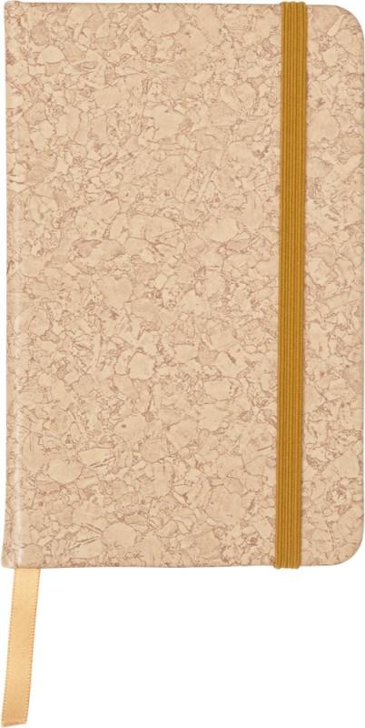 PU notitieboekje A6 met kurk print