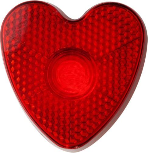 Plastic veiligheids lampje, model 'hart'