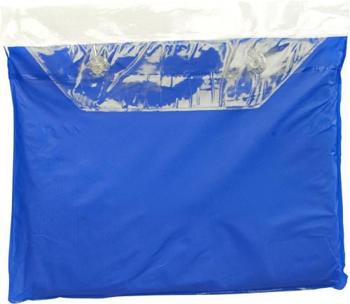 Vinyl poncho met druksluiting aan de zijkanten