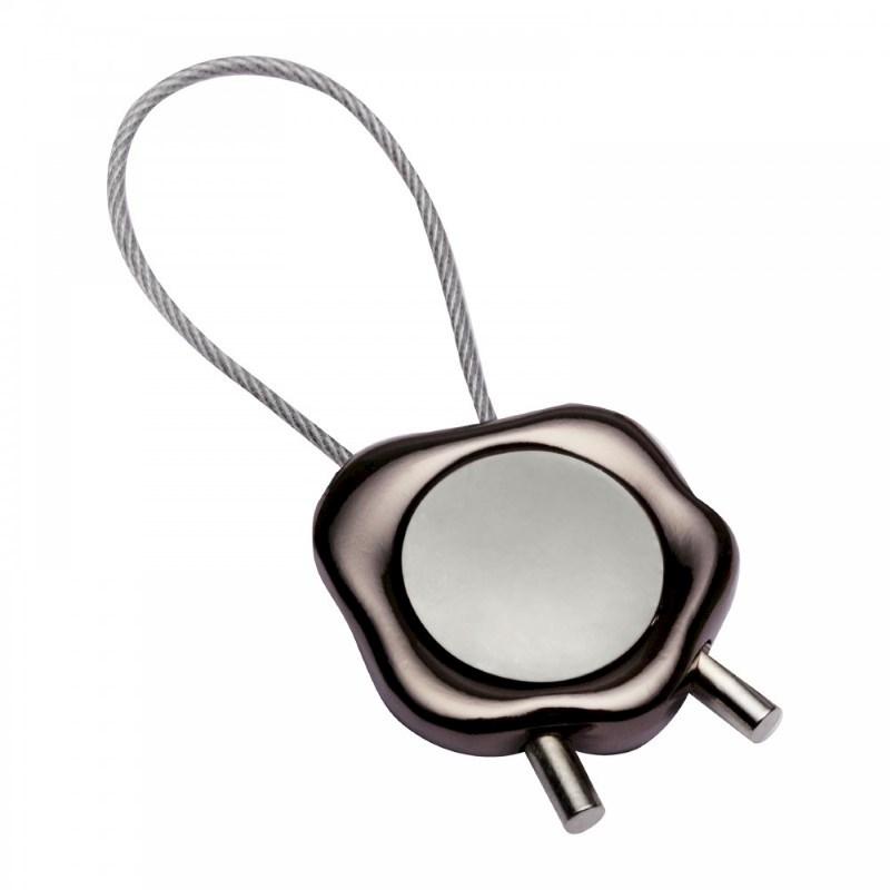 Winkelwagenmunthouder sleutelhanger REFLECTS-BORDEAUX