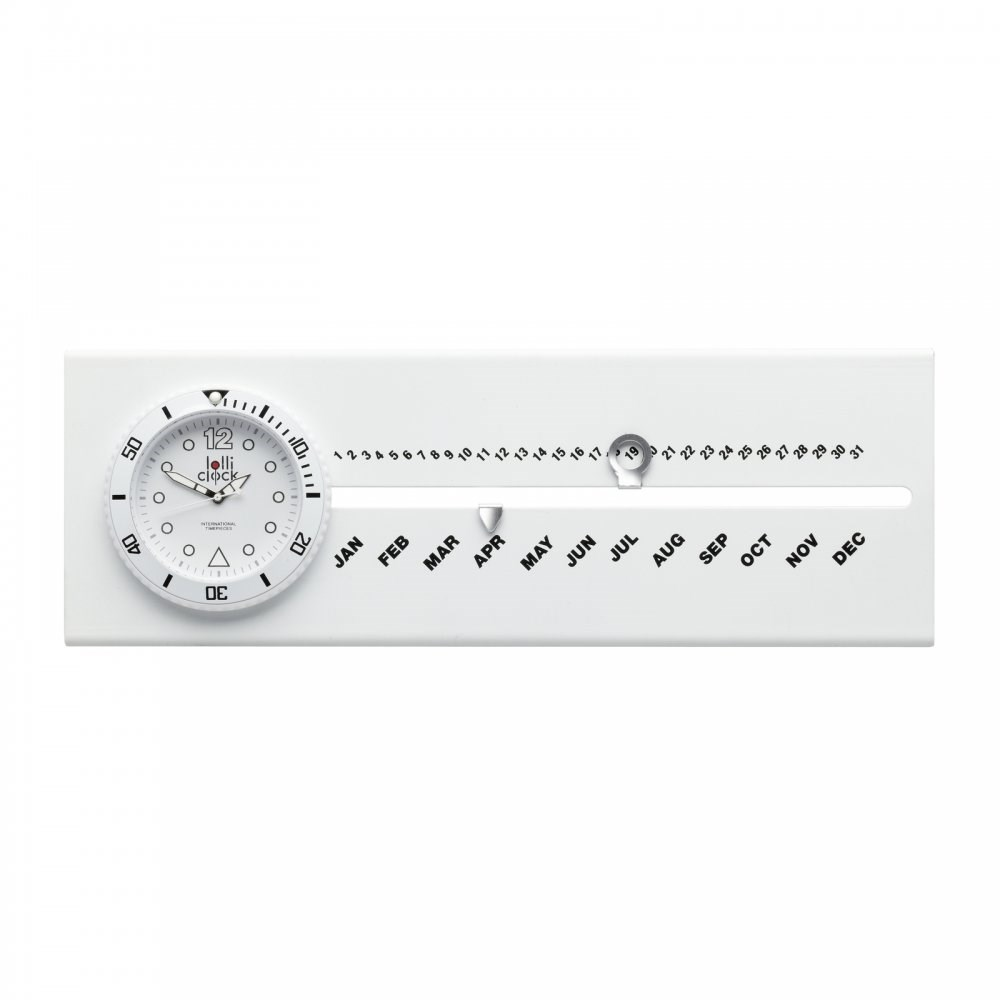Klokje met kalender LOLLICLOCK-CALENDAR