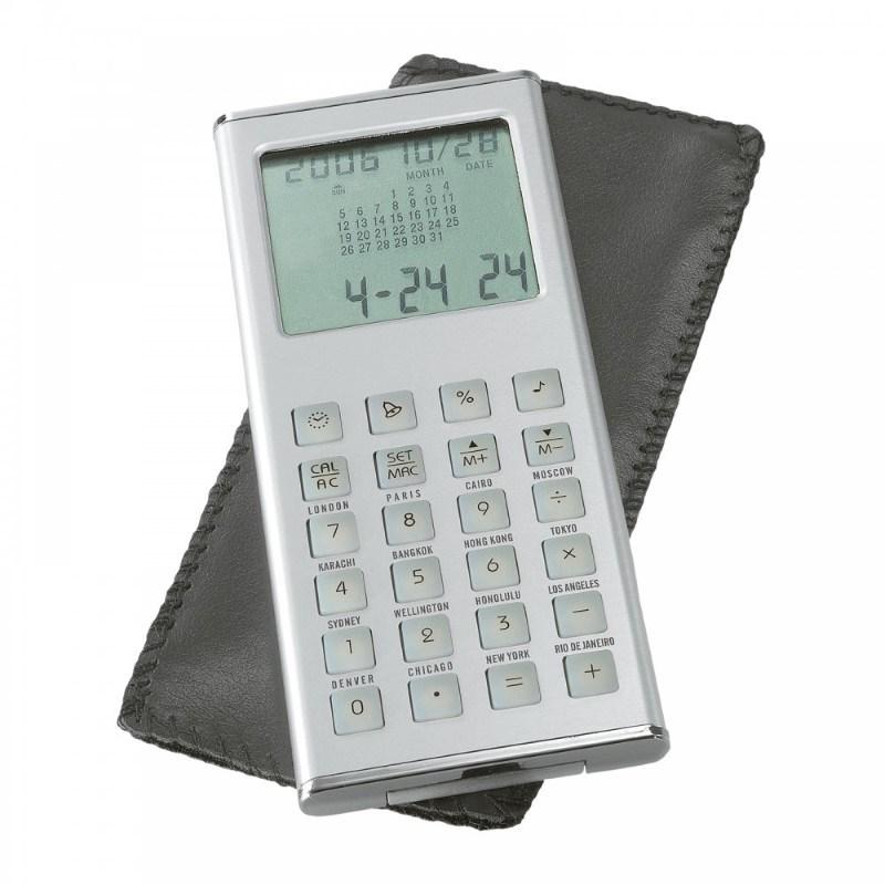 Calculator met wereldtijdenklok REFLECTS-OVIEDO