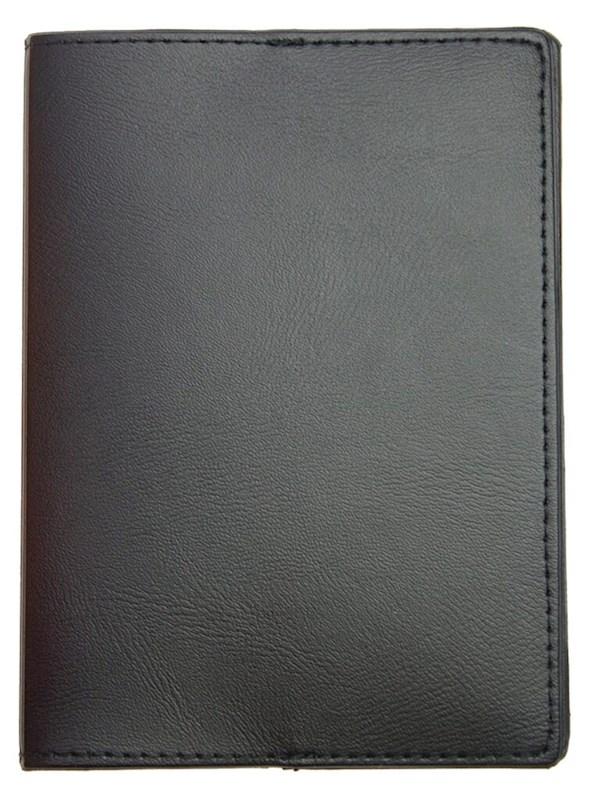 Paspoortmap de Luxe Skai 13297 cm Zwart acc Zwart